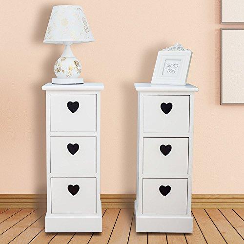 nachttisch schmal. Black Bedroom Furniture Sets. Home Design Ideas