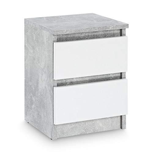 nachttisch aus beton betonoptik. Black Bedroom Furniture Sets. Home Design Ideas