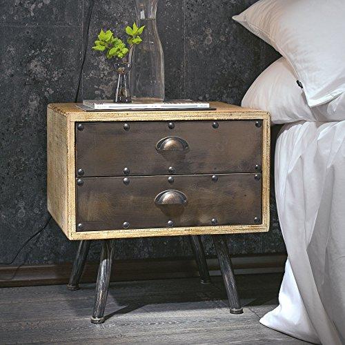 nachttisch braun z b f rs boxspringbett. Black Bedroom Furniture Sets. Home Design Ideas