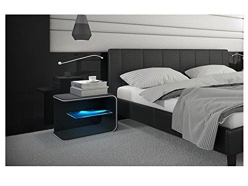 nachttisch mit beleuchtung. Black Bedroom Furniture Sets. Home Design Ideas