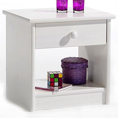 nachttisch wei matt oder gl nzend. Black Bedroom Furniture Sets. Home Design Ideas