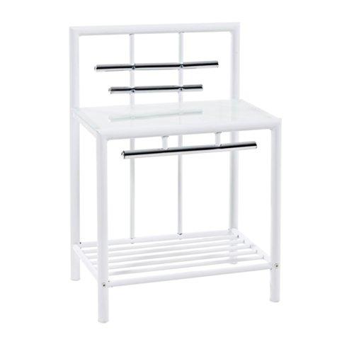 schicker metall nachttisch. Black Bedroom Furniture Sets. Home Design Ideas