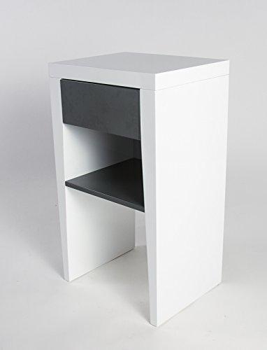 nachttische wei hochglanz f r boxspringbetten gartenh user 2017. Black Bedroom Furniture Sets. Home Design Ideas