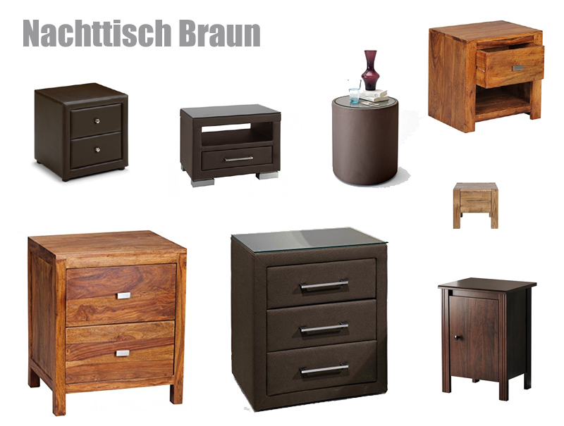 nachttisch braun z b f rs boxspringbett. Black Bedroom Furniture Sets. Home Design Ideas