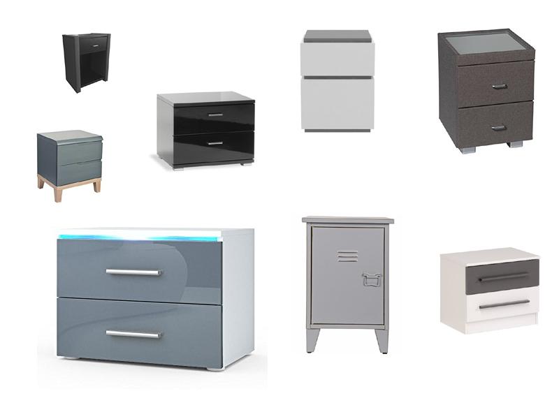nachttisch grau. Black Bedroom Furniture Sets. Home Design Ideas
