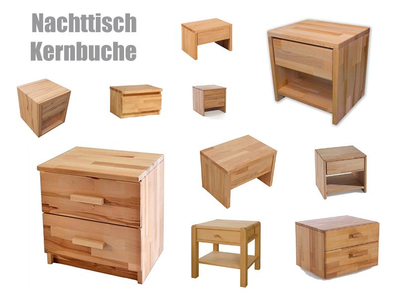 nachttisch kernbuche z b massiv und ge lt. Black Bedroom Furniture Sets. Home Design Ideas