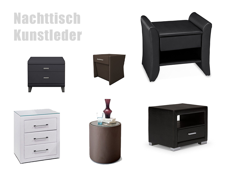 nachttisch kunstleder. Black Bedroom Furniture Sets. Home Design Ideas