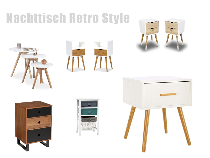 nachttisch retro. Black Bedroom Furniture Sets. Home Design Ideas