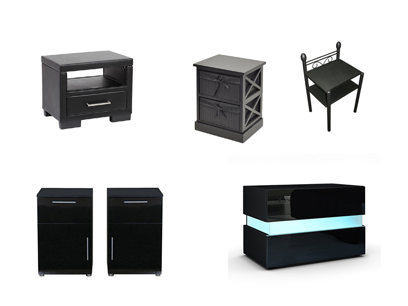 nachttisch schwarz. Black Bedroom Furniture Sets. Home Design Ideas